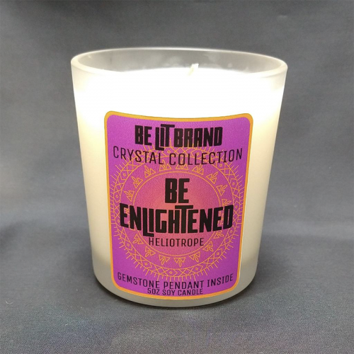 Be Enlightened Candle w/ Gem