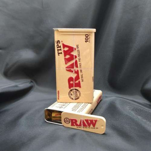 Raw 100ct Preroll Tips Tin