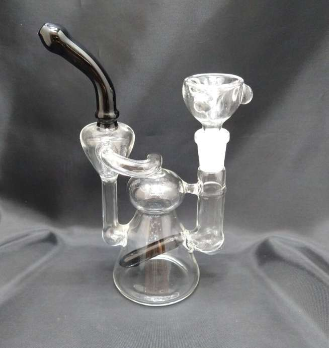 6.5'' Clear & Black Recycler